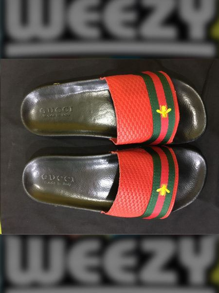 Less than 5000 Gucci Bee Slide (Red)