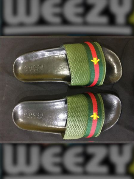 Less than 5000 Gucci Bee Slide (Green)
