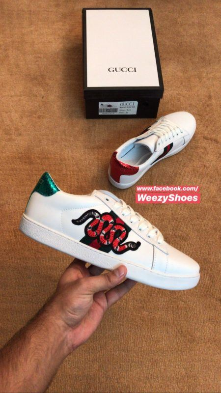 Gucci Gucci Ace Embroidered x Snake