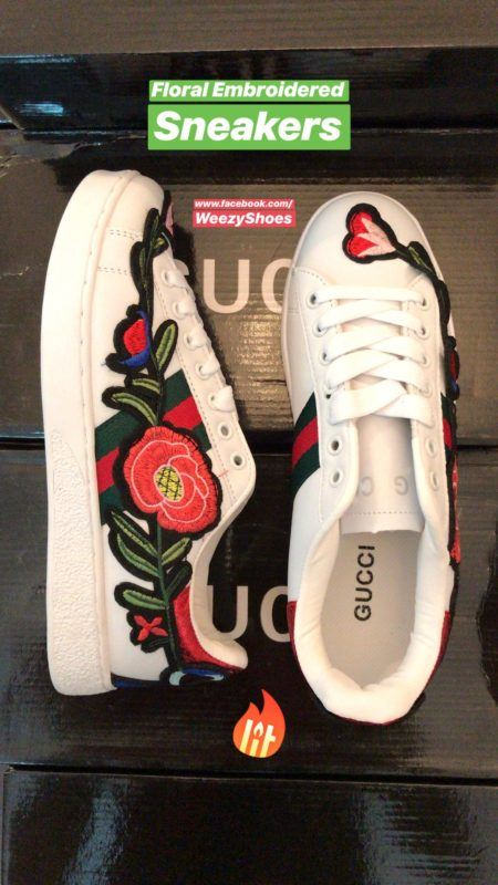 Gucci Gucci Ace Embroidered Floral