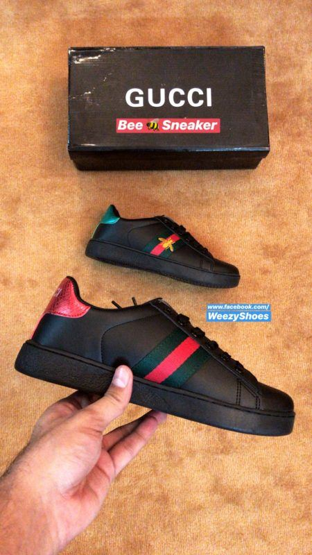 Gucci Gucci Ace Embroidered Bee (Blk)