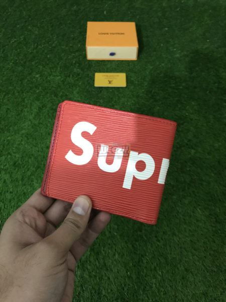 Accessories Lv x Supreme Wallet (Red)