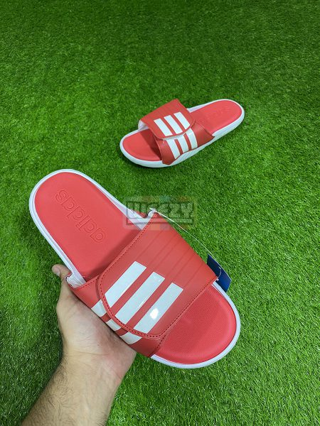Adidas Alphabounce 3 Stripes Slide (Red)